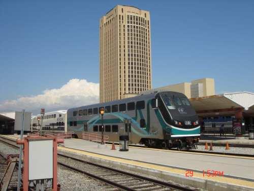 Tren de Metrolink en Union Station.