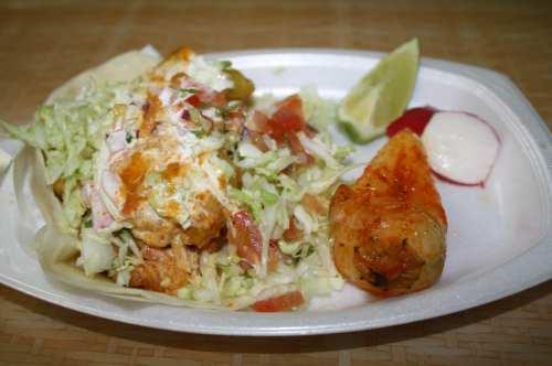 Tacos Baja  (Foto Agustín Durán/El Pasajero)