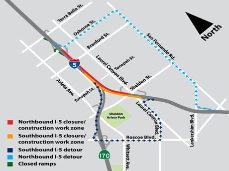 mapa I-5:SR-170