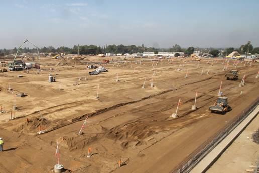 Nuevo campo de operaciones en Monrovia: Foto: Dirección de Construcción de la Extensión de la Línea Dorada a Foothill.