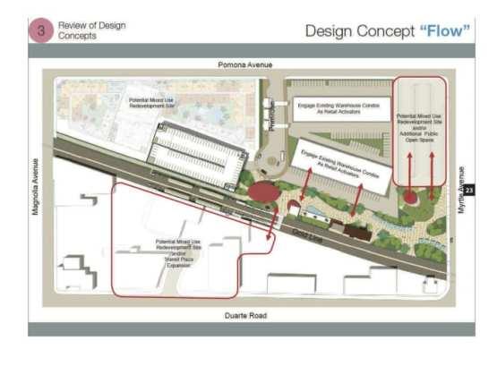Dibujo del área que rodea a la estación de Monrovia.