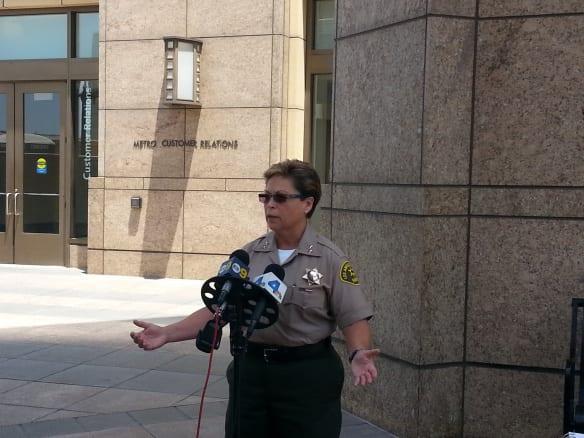 Ronene Anda, jefa de la División de Vigilancia de Transporte del LASD.