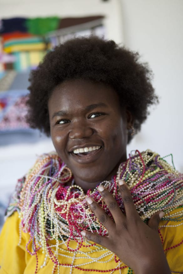 La artista Nzuji de Magalhaes. Foto: Todd Gray.