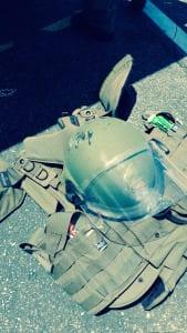 El chaleco antiexplosivos del sargento Walter pesa ¡45 libras!