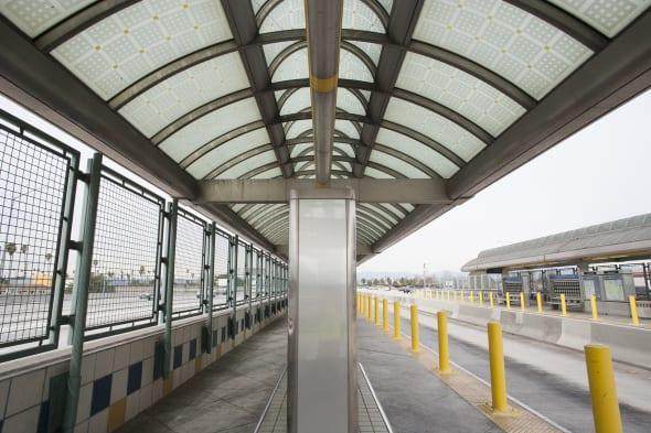La estación Manchester antes de que se instalaran las obras.