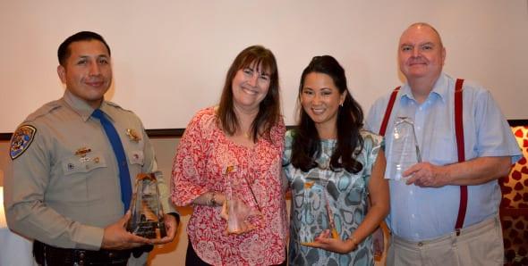 Los ganadores de este año. De izq. a der., Edgar Figueroa, Barbara Brooks, Ginger Chan, Richard Turnage. Angel Martinez no aparece en la foto.