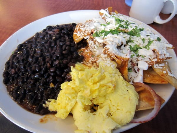 Chilaquiles, una de las especialidades de Homegirl Café.