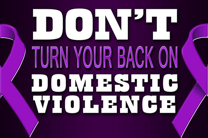 Don't turn back on domestic violence