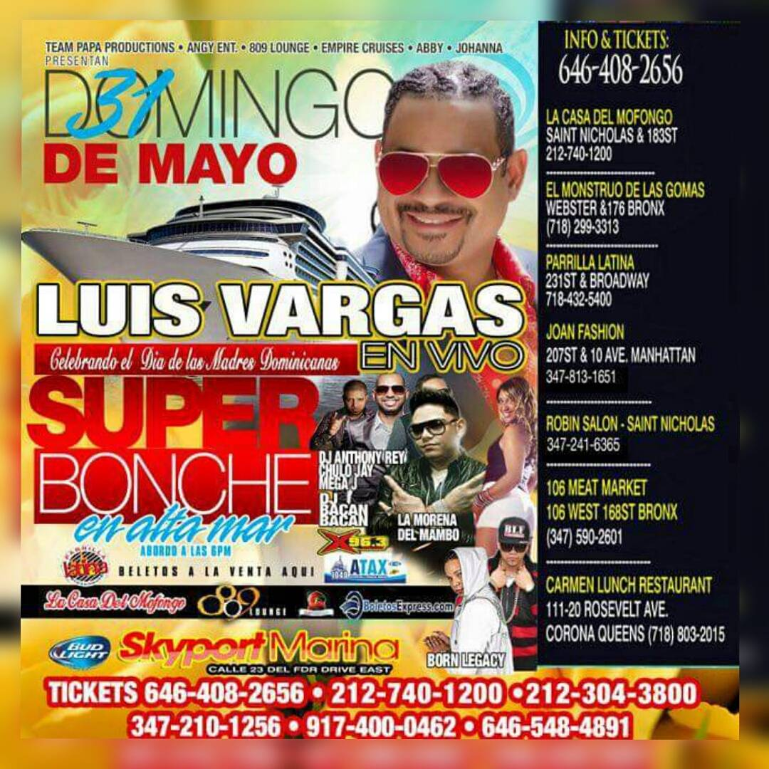 Super Bonche en Alta Mar Con Luis Vargas Papaproductions Team