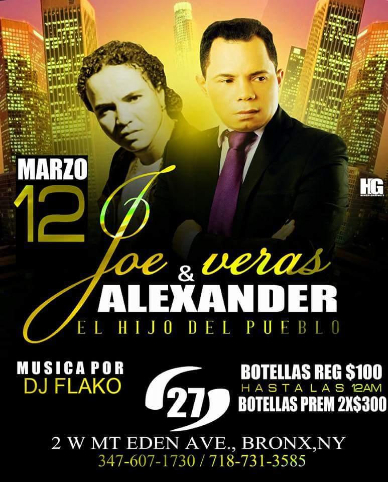 JOE VERAS Y ALEXANDER EL HIJO DEL PUEBLO 12 DE MARZO