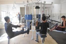 Menores infractores en gimnasio de Seguridad Pública (2)