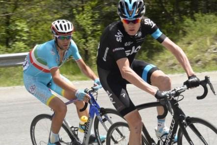 Chris Froome y Vincenzo Nibali, en Dauphiné (Foto: Graham Watson)