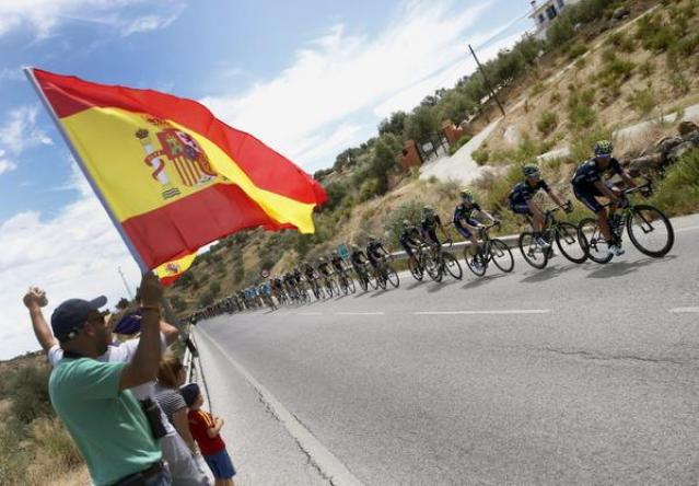 Movistar comandó el pelotón durante gran parte de la etapa.