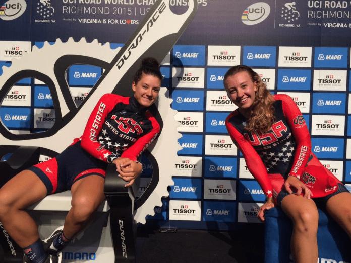 Dygert y White en los 'hot seats'. Foto © USA Cycling