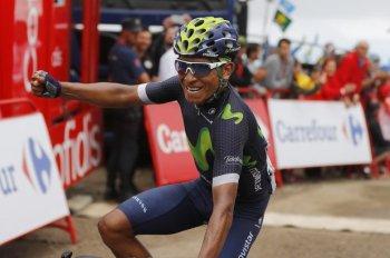 Nairo Quintana (Movistar), ganador de la 10a etapa de la Vuelta a España 2016 © Photo Gómez Sports