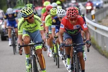 Nairo Quintana (Movistar) y Alberto Contador (Tinkoff) en la 15a etapa de la Vuelta a España 2016 © Graham Watson / Unipublic