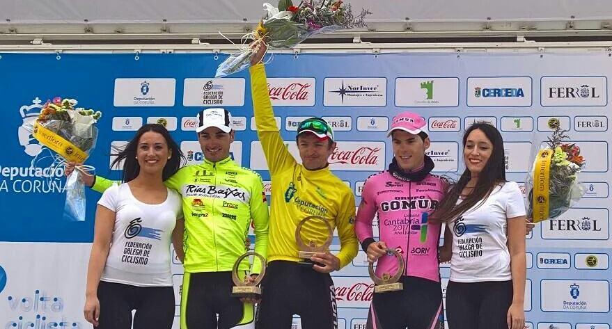"""Gallu fue segundo en la Volta a Coruña (Foto: Facebook """"Jose Manuel Gutierrez Revuelta"""")"""
