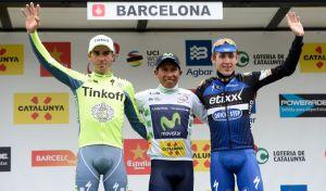 Podium final de la Volta a Catalunya con Nairo Quintana como vencedor