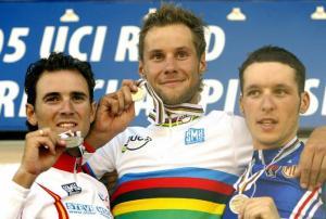 Imagen del podium en el Campeonato del Mundo de Madrid (2005)