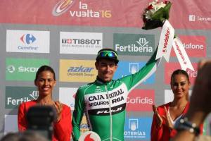 Jaime Rosón durante la Vuelta  a España 2016. (Fuente: Facebook Jaime Rosón)