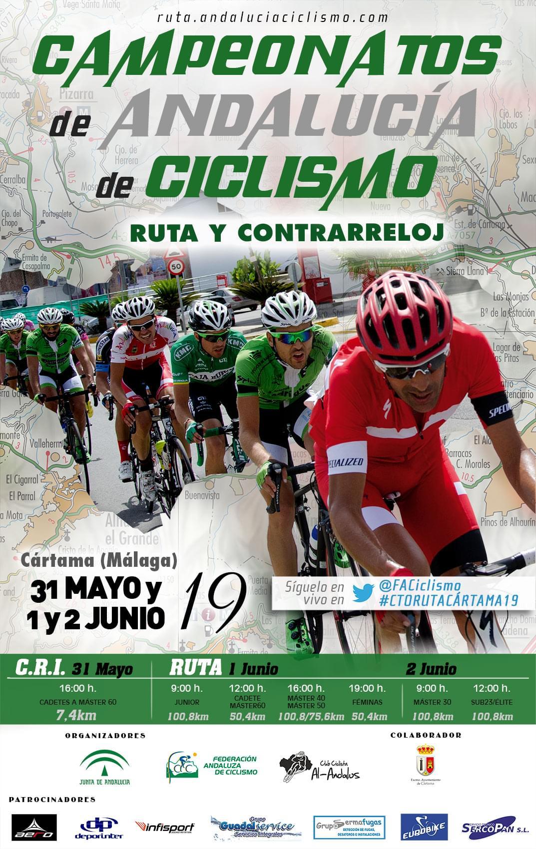 Campeonato de Andalucía ciclismo Cártama 2019