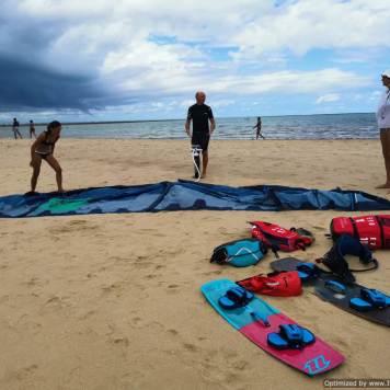 Preparando los Kites