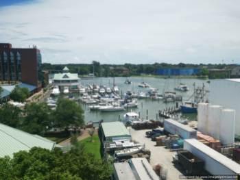 Vista de la mArina de Hampton