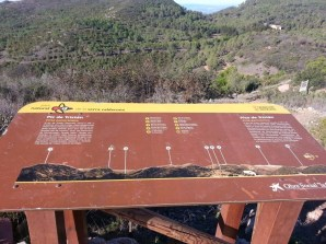 Panel explicativo del pico Tristán