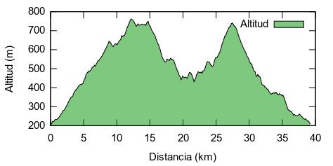 Altimetría de la ruta