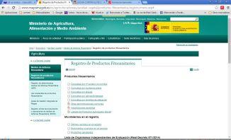 web ministerio fitosanitarios