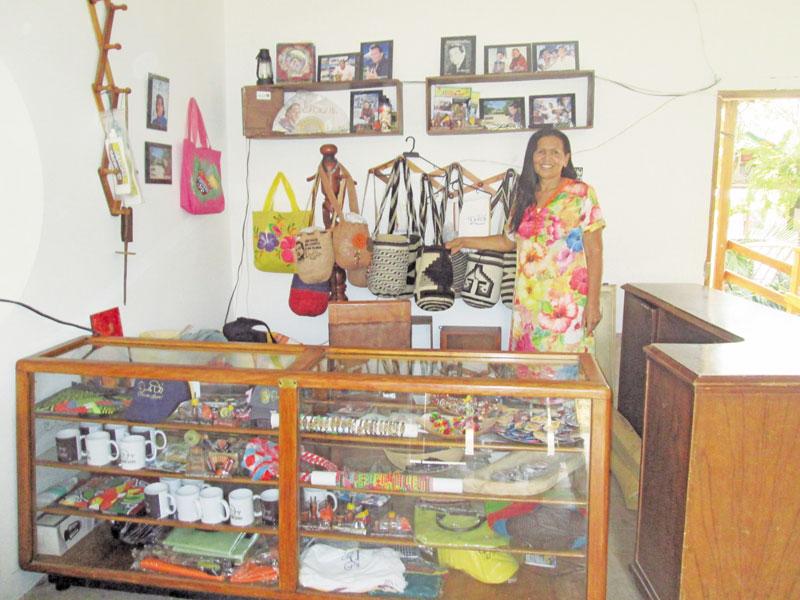 Gloria Díaz en la casa museo de Carrizal.