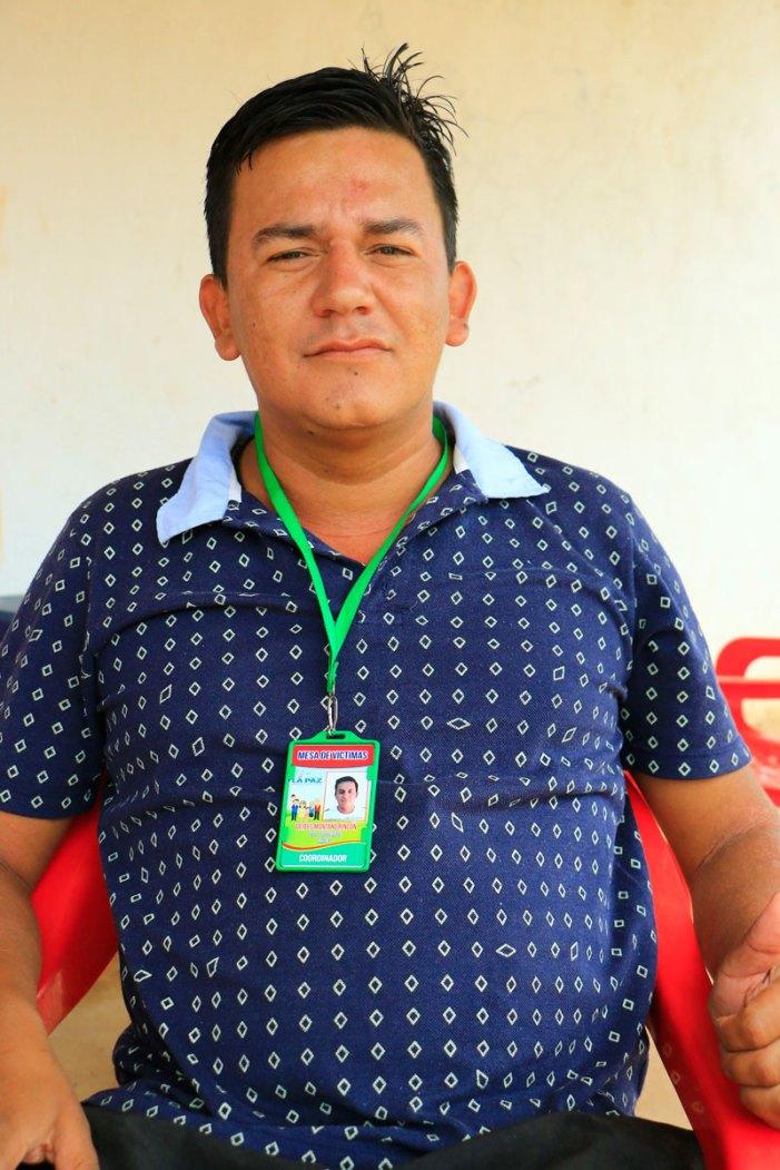 Deibi Montaño Rincón, actual coordinador de la Mesa de Víctimas del municipio de La Paz.