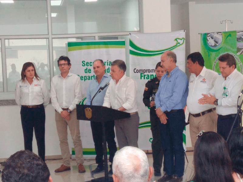 El presidente Juan Manuel Santos inauguró el Hospital Regional de Aguachica y entregó títulos de propiedad en la población.