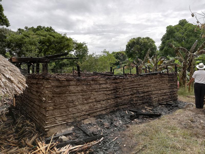 La comunidad kankuama logró sofocar las llamas antes de que las mismas consumieran también la kankurua de mujeres.