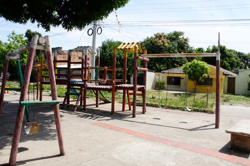El abandono del parque es notable a simple vista ya que toda la estructura muestra el paso del tiempo y la falta de adecuación.