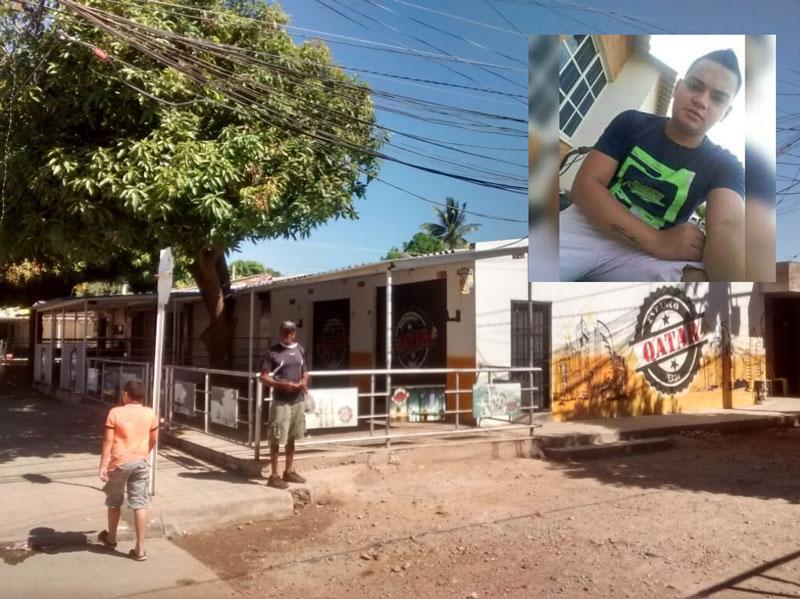 En este sitio ocurrieron los hechos, y perdió la vida Sergio Andrés Estrada Caballero.