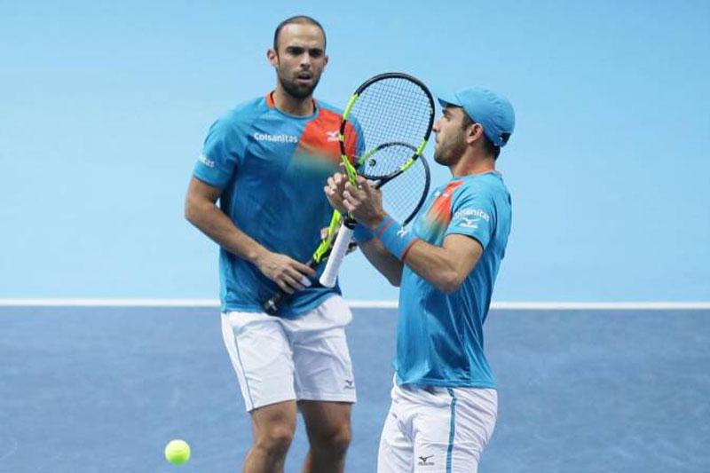 Juan Sebastián Cabal y Robert Farah iniciaron su año deportivo con el subtitulo en dobles.