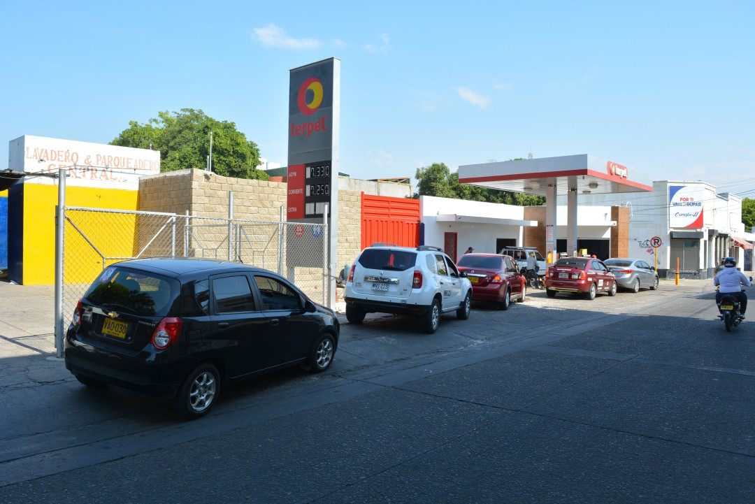 El impuesto por sobretasa a la gasolina se ha recuperado, debido al cierre de la frontera con Venezuela.