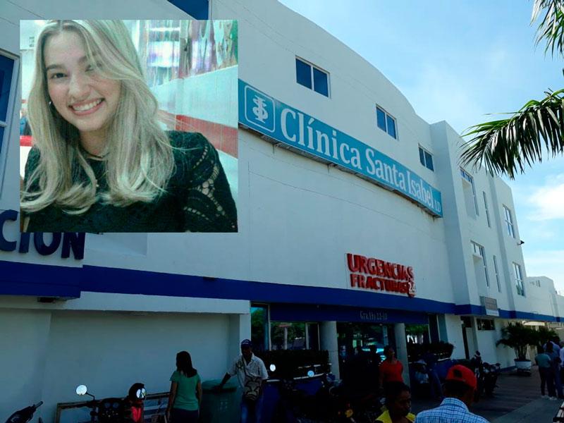 La joven Andrea Carolina Suárez permanece en este centro asistencial.