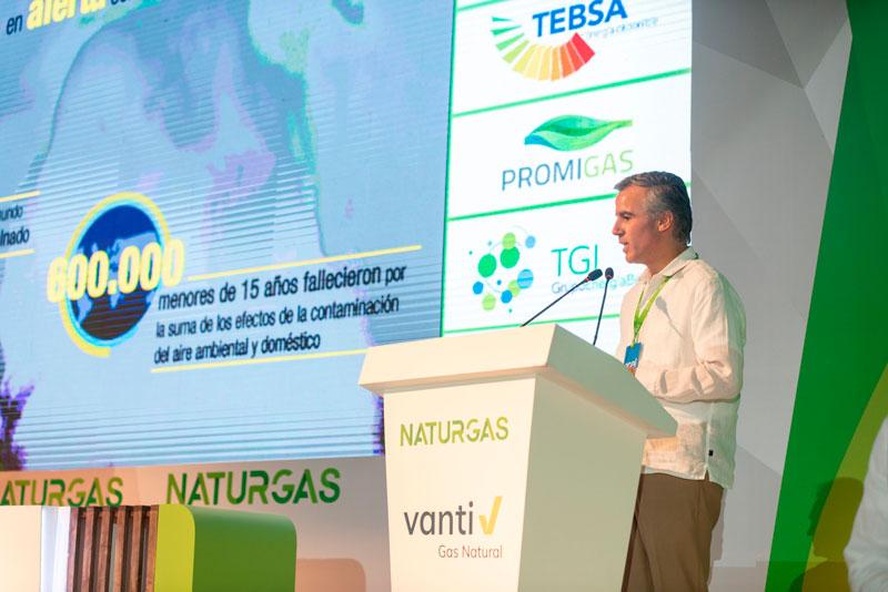 El presidente de Naturgas, Orlando Cabrales Segovia, resaltó el papel del gas natural en el sector eléctrico nacional.