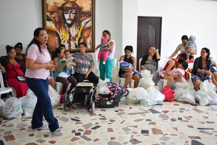 La comunidad valduparense ha acogido esta actividad año tras año para contribuir al bienestar de madres embarazadas de escasos recursos y niños recién nacidos.