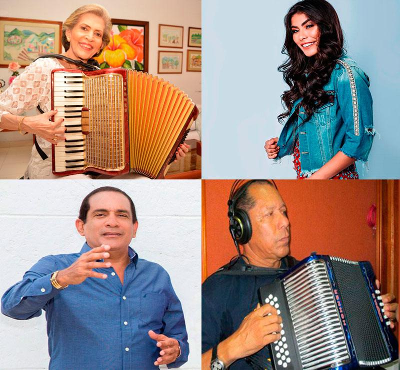 Los compositores Rita Fernández Padilla y Rafael Manjarrez Mendoza, así como el acordeonero Emilio Oviedo y la intérprete Karen Lizarazo serán homenajeados en el Festival Vallenato Mar de Acordeones.