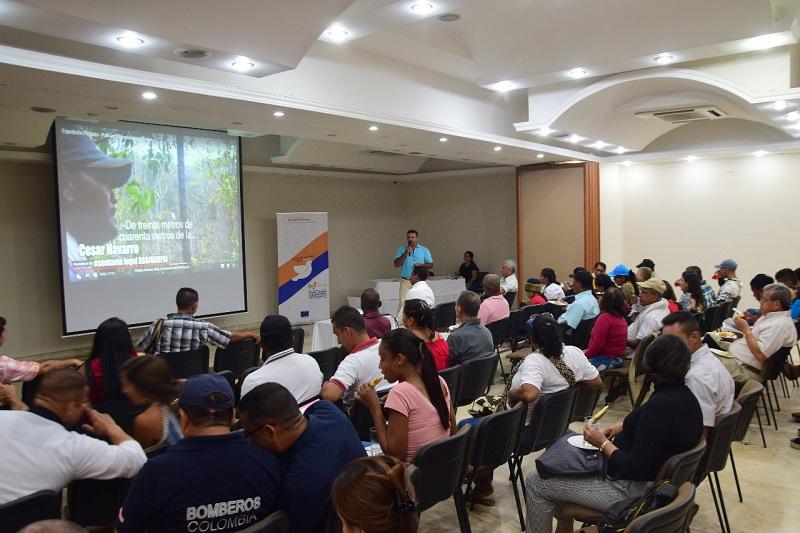 Ayer en uno de los hoteles de Valledupar culminaron este proceso diferentes líderes del Cesar. En total a nivel nacional se prepararon de la misma manera a alrededor de 800 personas.  CORTESÍA.