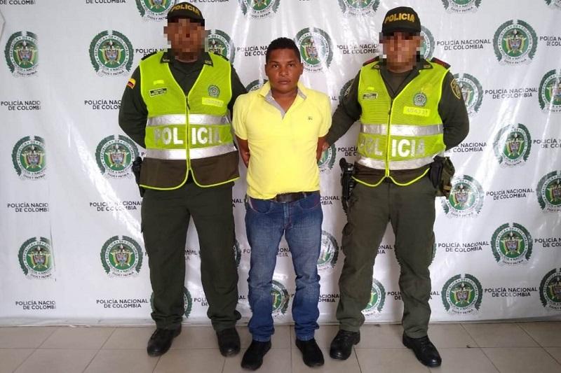 Elkin José Bermúdez detenido.   FOTO: JUDICIALES