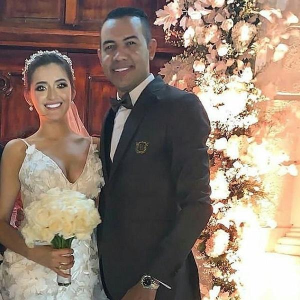 Diego Daza y su esposa Melissa Villegas.   FOTO: TOMADA DE INSTAGRAM.