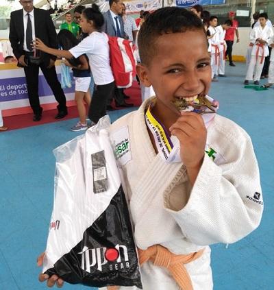 Johan Pinto alcanzó el logro dorado para el departamento del Cesar.   FOTO: CORTESÍA