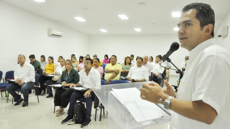 Alfonso Campo Martínez durante la rendición de cuentas de la Personería de Valledupar.   Foto: CORTESÍA.