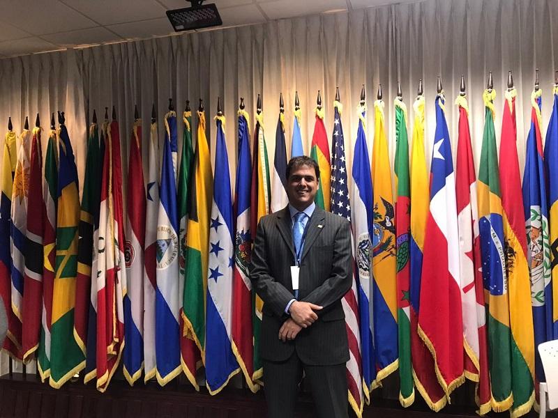 El secretario de Agricultura del Cesar, Carlos Eduardo Campo Cuello, representó a Colombia en la Junta Interamericana para las Américas como presidente del Consejo Nacional de Secretarios de Agricultura, Consa.  FOTO/ CORTESÍA.