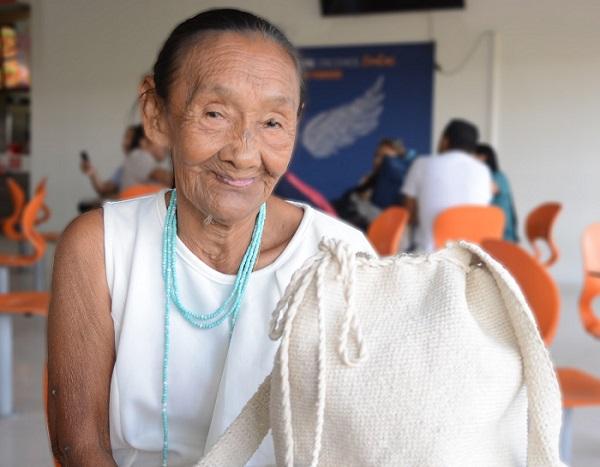 A sus 74 años a constribuido a resistencia de la Etnia Chimila que hoy día se encuentra repartidas en diferentes zonas de Colombia.   FOTO/SERGIO MCGREEN.