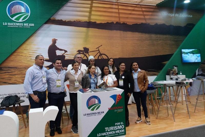 Una delegación del Cesar está presente en la versión 39 de la Vitrina Turística de la Asociación Colombiana de Agencias de Viajes y Turismo, Anato.  FOTO/CORTESÍA.